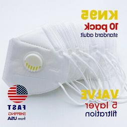 KN95 SEALED Face Mask with Exhalation VALVE Safety Respirat