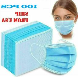 100 Pcs Face Mask with Filter Mouth & Nose Protector Respira