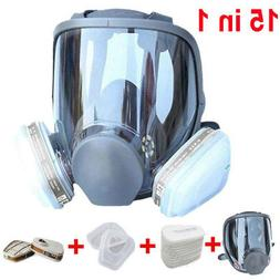 15 in 1 Suit Full Face Gas Mask For 6800 Facepiece Respirato