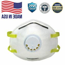 10 Gerson N95 Particulate Respirator Face Mask Valve Protect