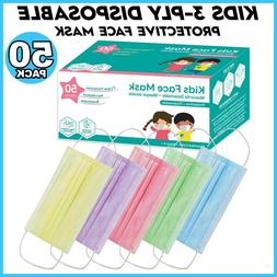 50 PCS KIDS TODDLERS Face Mask Mouth & Nose Protector Respir