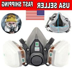 6200 Half Face Gas Mask Protective Respirator Painting Spray