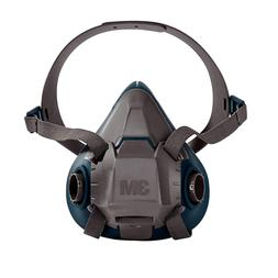 3M 6502 Gray/Teal Rugged Comfort Half Facepiece Reusable Res