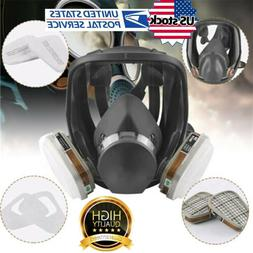 6800 Full Face Gas Mask 7 in 1 Facepiece Respirator for Pain