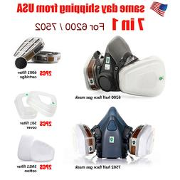 7/17 in 1 Half Face Mask Suit For 6200 Gas Spray Painting Pr