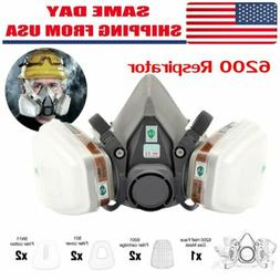 7in1 Half Face Gas Mask Facepiece Spray Painting 6200 Respir
