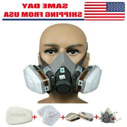 7in1 Half Face Gas Mask Facepiece Spray Painting Respirator