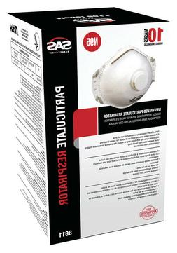 SAS 8611 N95 Particulate Respirator Mask With Valve, Box Of