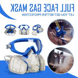 Double Filter Respirator Facepiece Air Breathing Chemical Bl