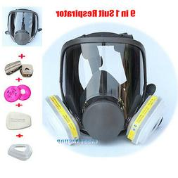 9 in 1 Chemical Painting Spray Respirator For 6800 Gas Mask