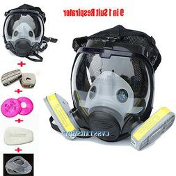9in1 Chemical Painting Spray Gas Mask Similar For 6800 Full