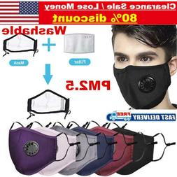 Air Purifying Masks Carbon Filter Cotton Mouth Muffle Anti H