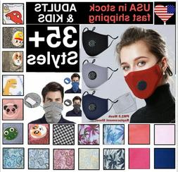 Cotton Face Mask  With  2 Filters Washable Reusable Activate