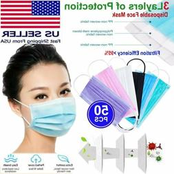 Disposable  Face Mask 3-PLY Dust Filter Respirator Breathabl