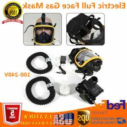 Electric Constant Flow Full Face Gas Mask Supplied Air Fed R