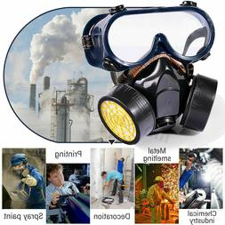 Emergency Survival Safety Respiratory Gas Mask Goggles &2 Du