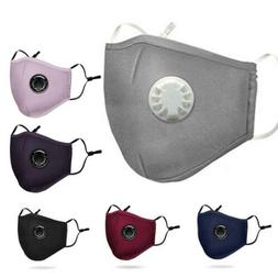 Face Mouth Protection Respirator Valved Filters Anti-Flu Haz