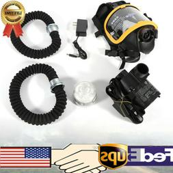 Full Face Gas Mask Electric Constant Flow Supplied Air Fed R