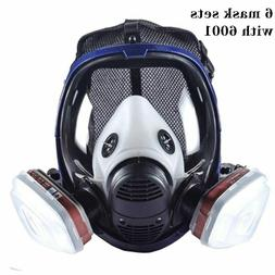 Full Face Paint Gas Mask Respirator 6800 with 3M Carbon Filt