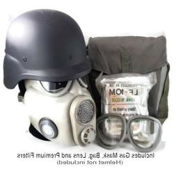 Full Face Premium NBC Gas Mask w/Bag - Projective Czech Mili