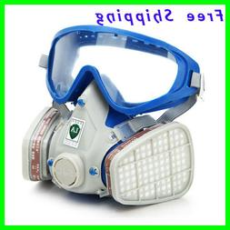 Full Face Respirator Gas Mask & Goggles Comprehensive Cover