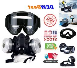 Full Face Respirator Gas Mask Double Filter Air Breathing Ch