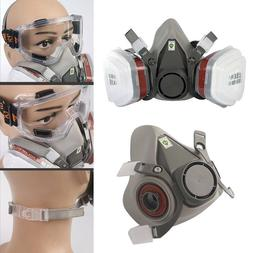 Full Face  Survival Gas Mask&Goggles Dual Protective Filter