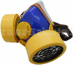Industrial Chemical Respirator Mask Assembly w/ Dual Filter