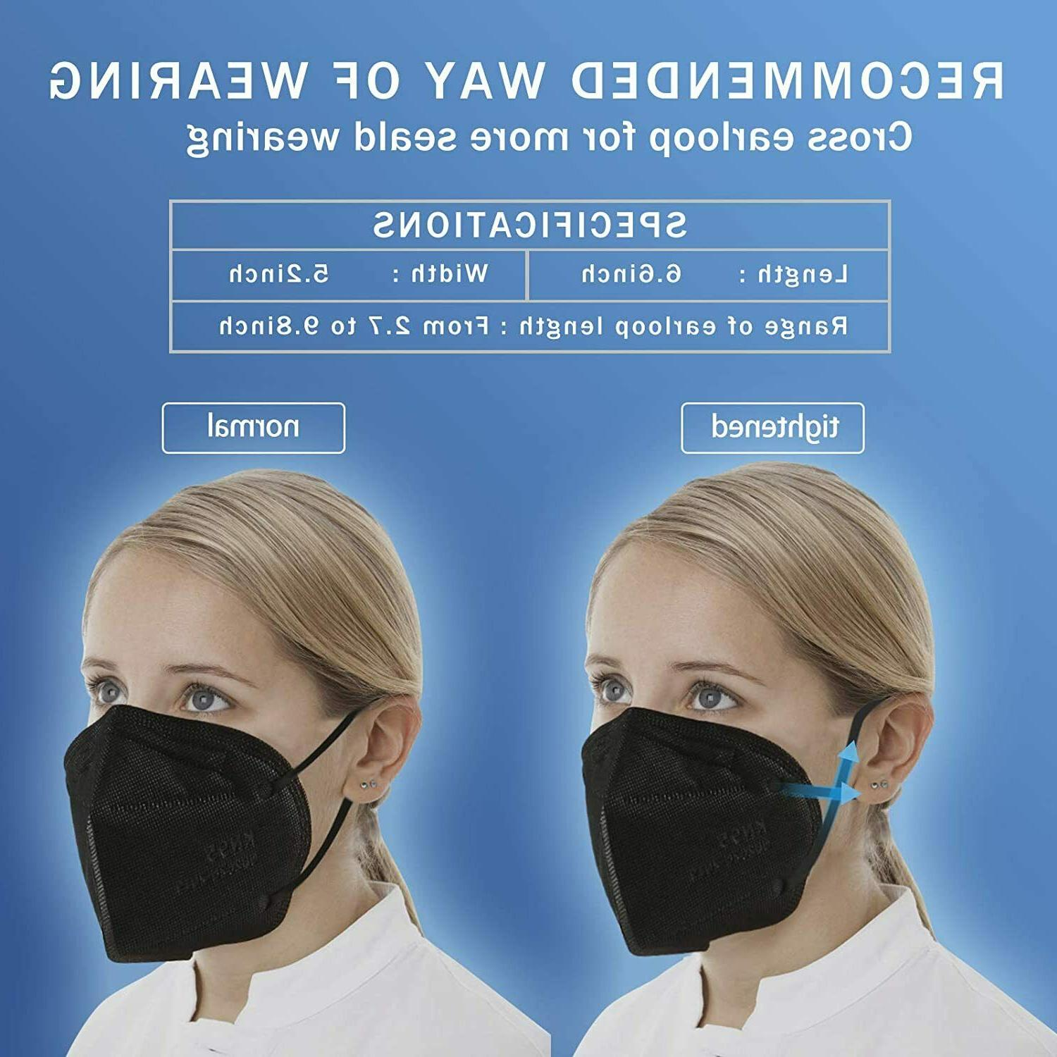 Black 5 Layer Mask Disposable BFE 95%
