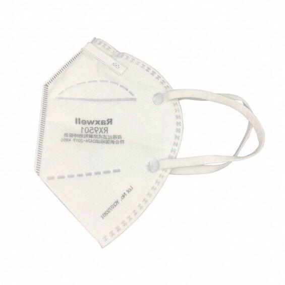 50 Pack Raxwell KN95 RX9501 Respirator Face Mask Approved &
