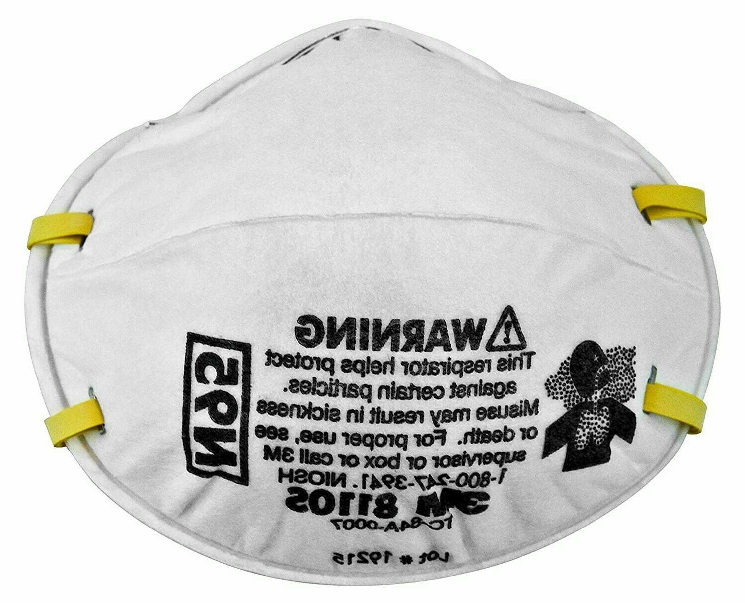 4 pack of 8110s niosh particulate respirator