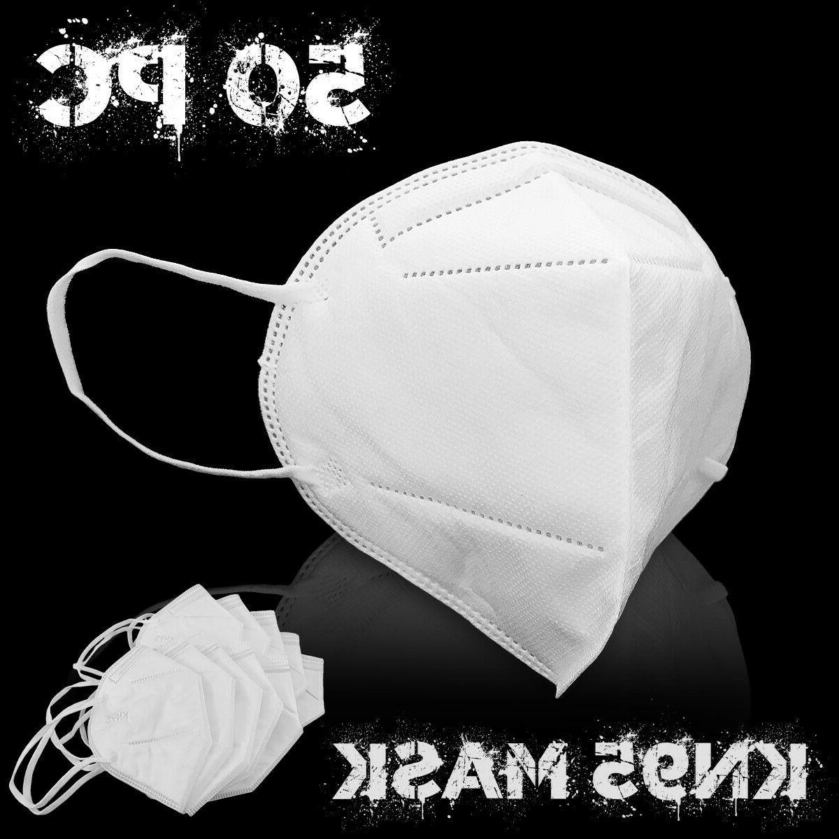 50pc kn95 face mask respirator cover 5layer