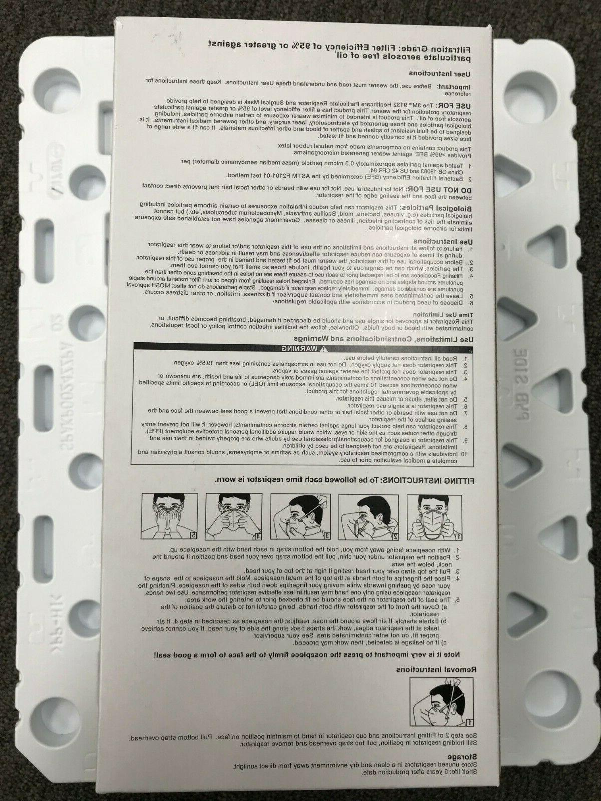 5Pack 3M N95 Healthcare Particulate Mask