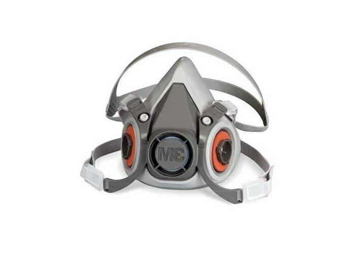 6000 series gray thermoplastic half mask facepiece