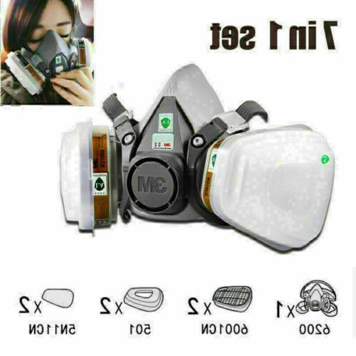 7 IN Face Mask for 6200 7502 Gas Painting Spray Protection