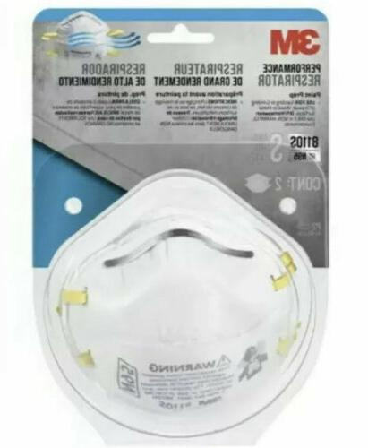 8110s n95 small performance respirator 2 pack