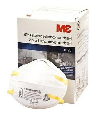 8210 n95 particulate respirator mask box of