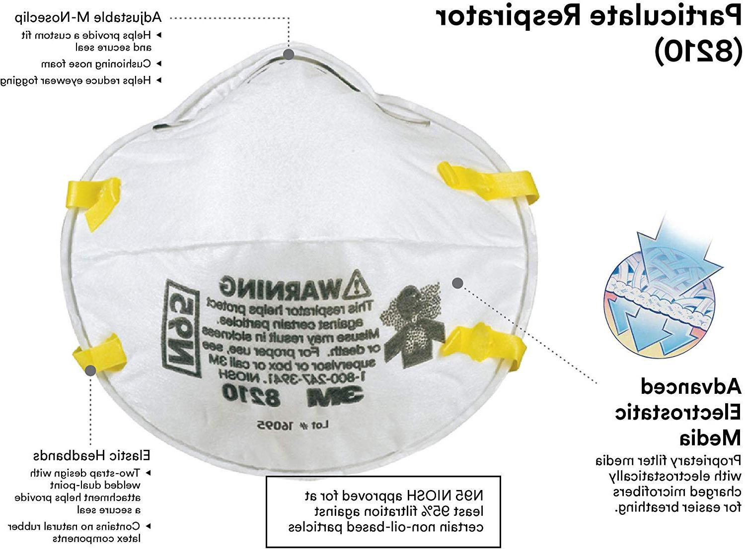 8210 n95 particulate respirator mask lot of