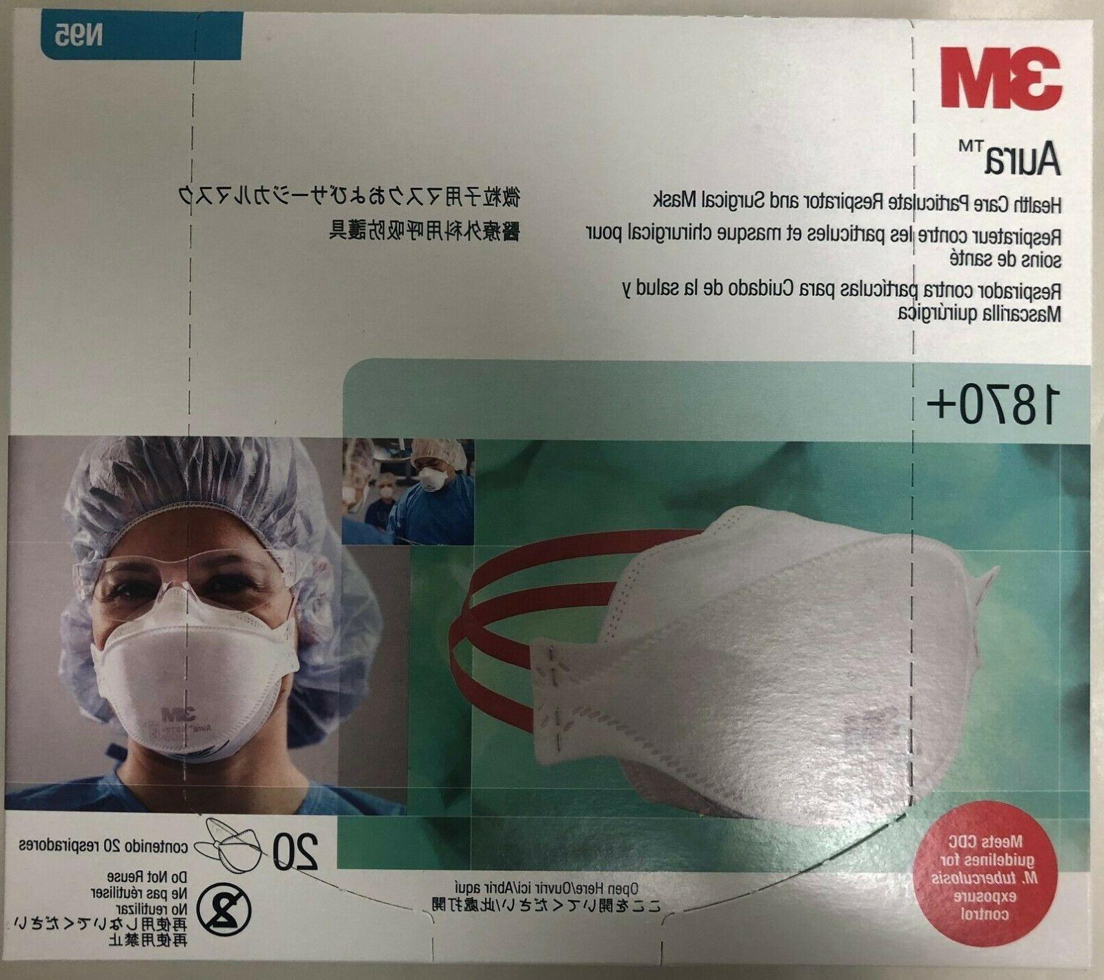 aura1870 n95 particulate respirator and surgical mask