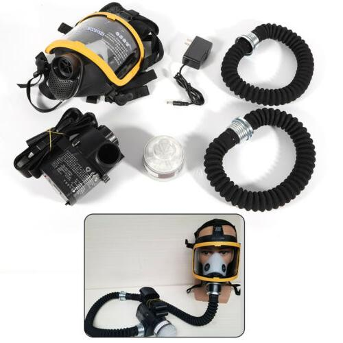 constant flow supplied respirator system kit electric