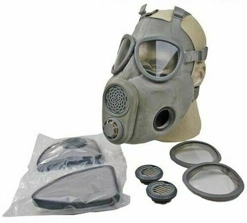 Size 3 Large XL Full Face M10 NBC Gas Mask Respirator Milita