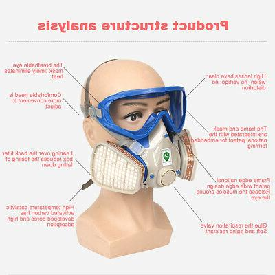 Full Face Respirator Goggles Double Breathing
