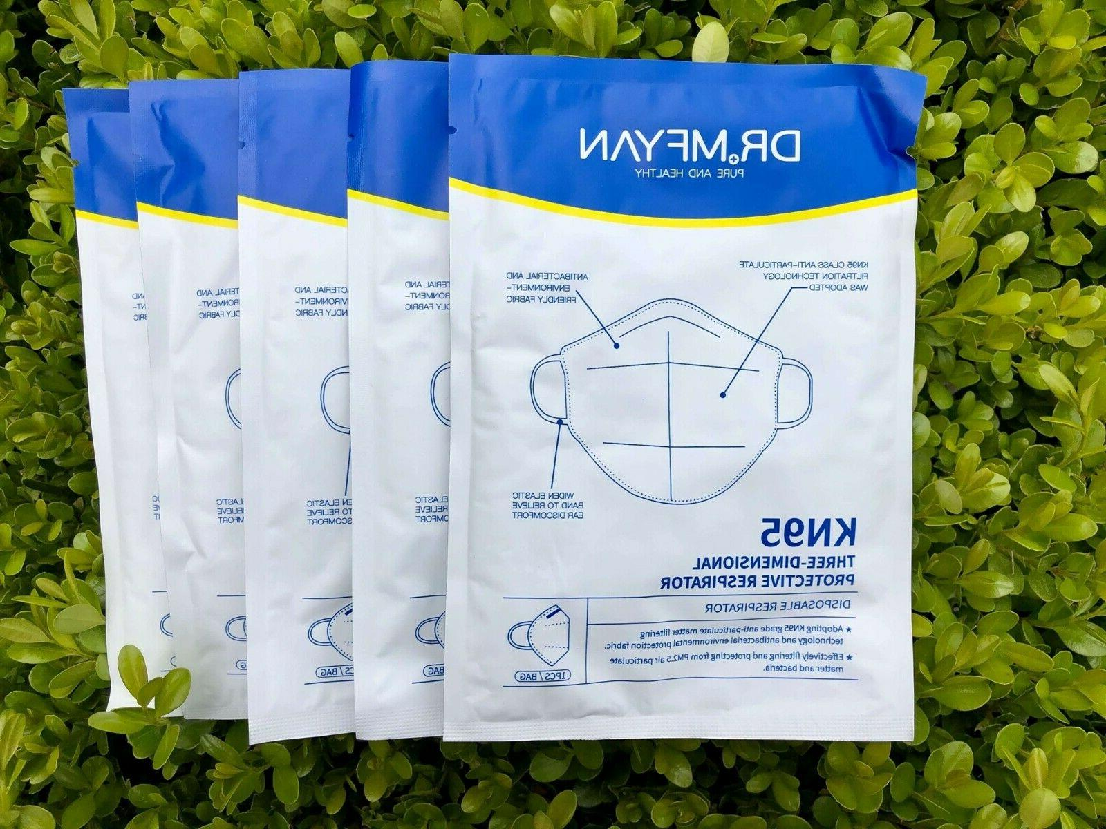 Dr MFyan 10 Pack FDA Approved Authorized Mask Respirator CDC