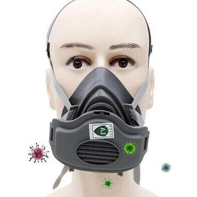Safety Half Face Gas Mask Painting Spraying Working Protect