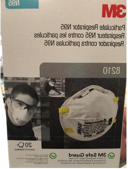 n95 8210 particulate respirator mask one box