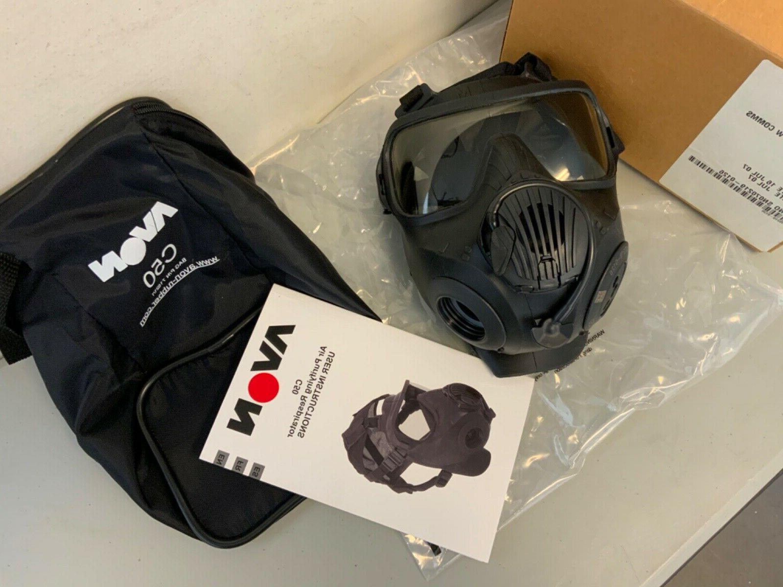 New Avon C50 Twin Mask Respirator with Size