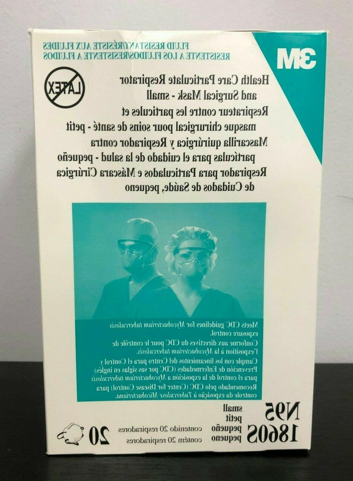 new sealed n95 1860s small respirator particulate