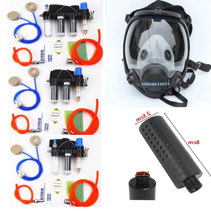 painting spray supplied air fed respirator system