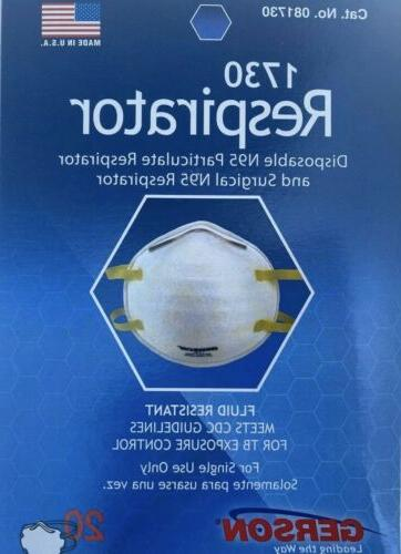 respirator mask brand only 2 ct