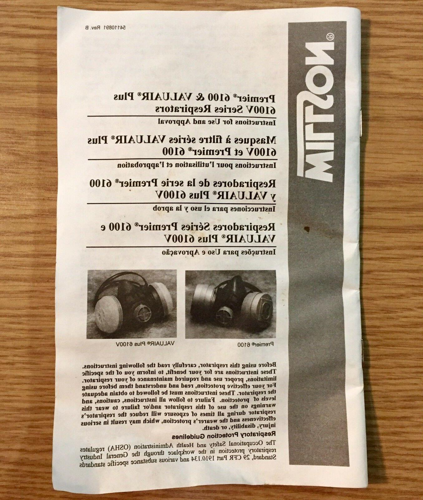 Willson 6100L Facepiece Assembly Valuair New